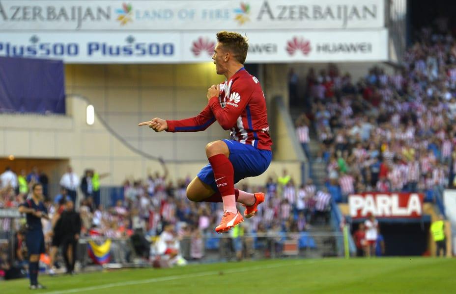 antoine griezmann celebrates atletico goal