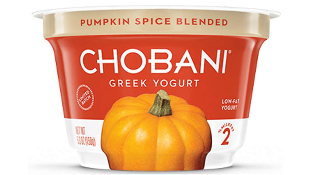 10 pumpkin spice yogurt.