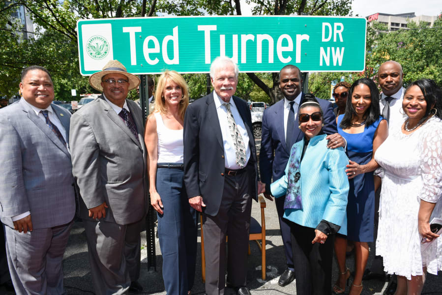 Ted Turner Drive Ceremony