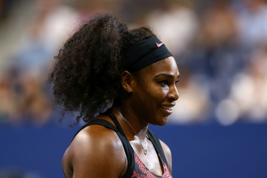 serena smiles day one us open