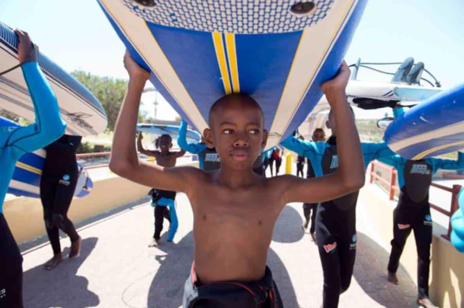 Waves for Change child surfer board