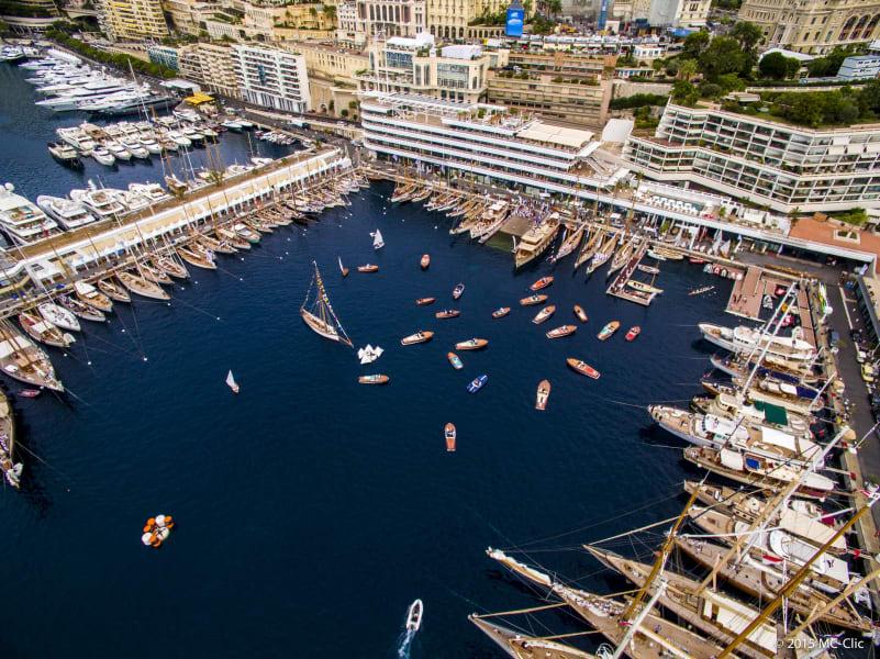 monaco classic boats overhead