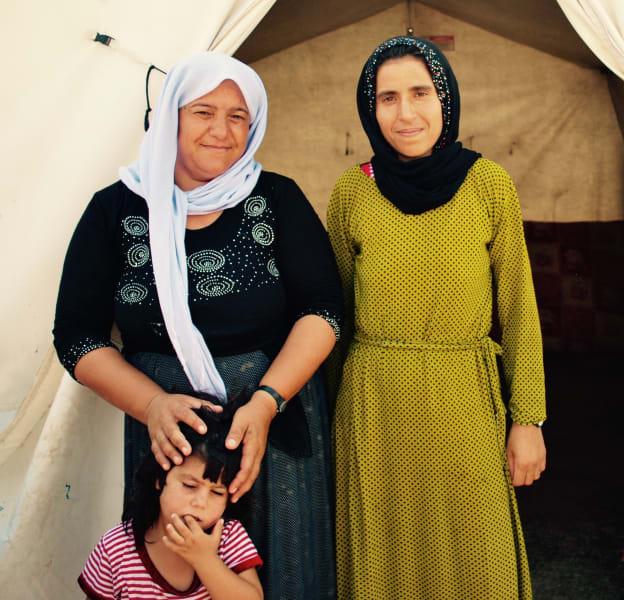 Yazidi women and childen dohuk camp