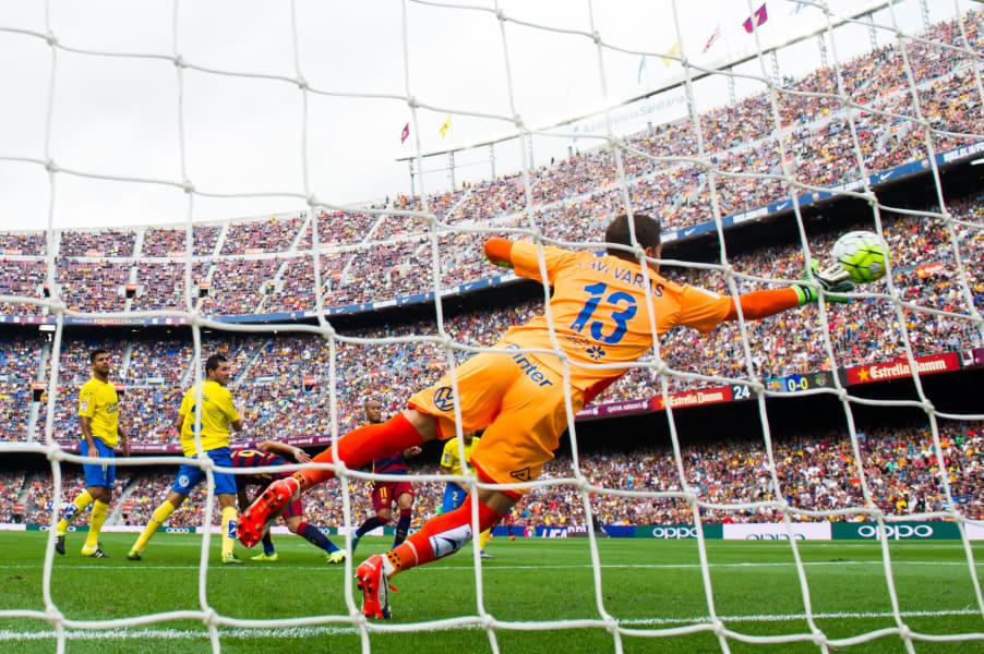Suarez scores barcelona las palmas