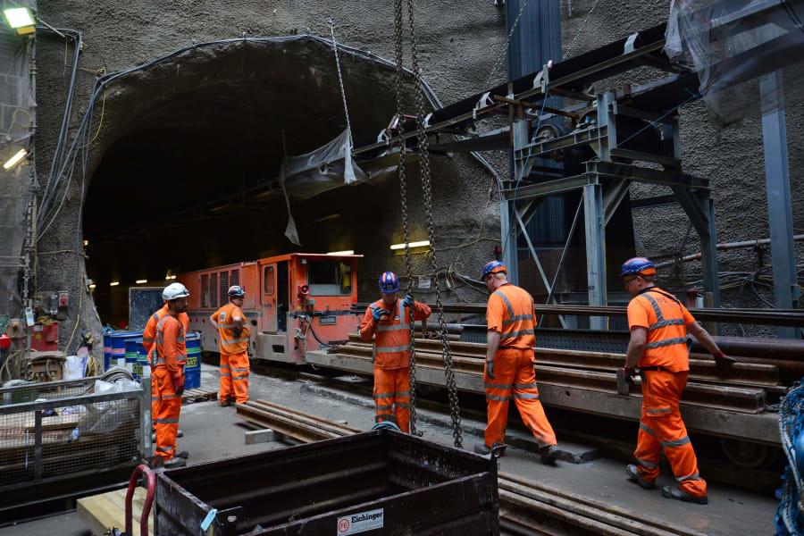 crossrail tunnel construction 2