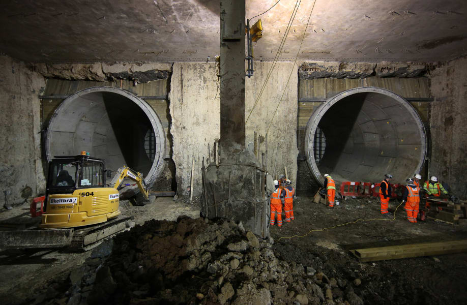 crossrail tunnel construction 4