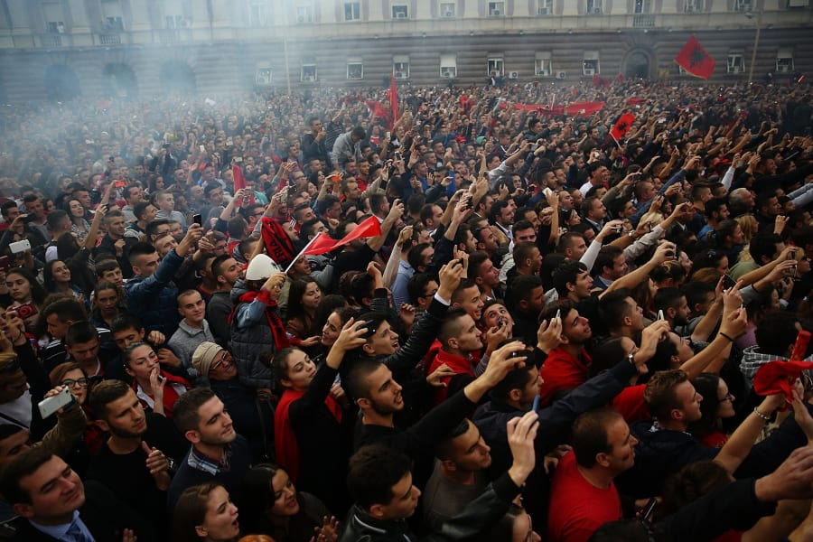 Fans of Albania