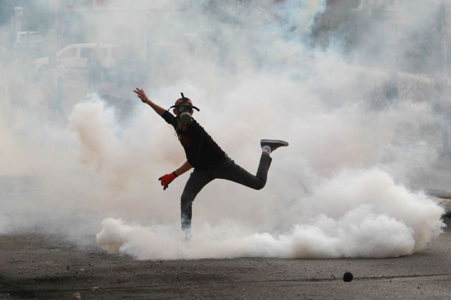 palestinian protester bethlehem Oct12
