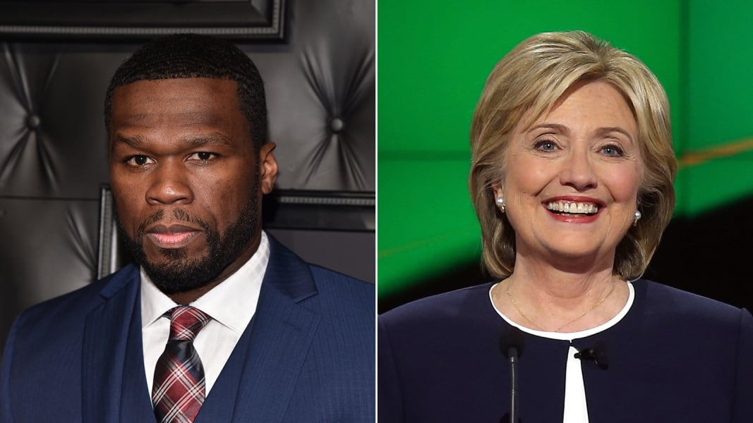 celebrity endorsements hillary clinton 50 cent