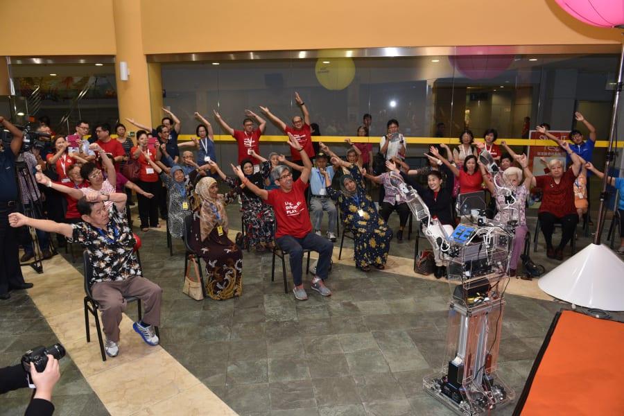 singapore robot elderly exercise 1
