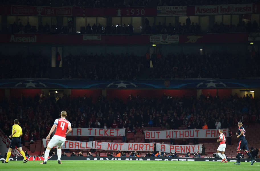 Bayern fans protest champions league