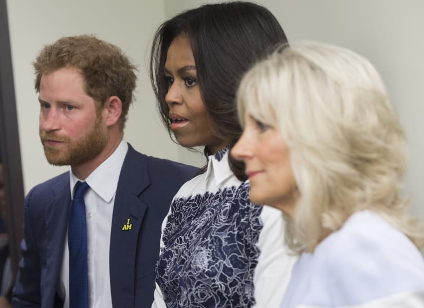 Prince Harry Michelle Obama Jill Biden 2