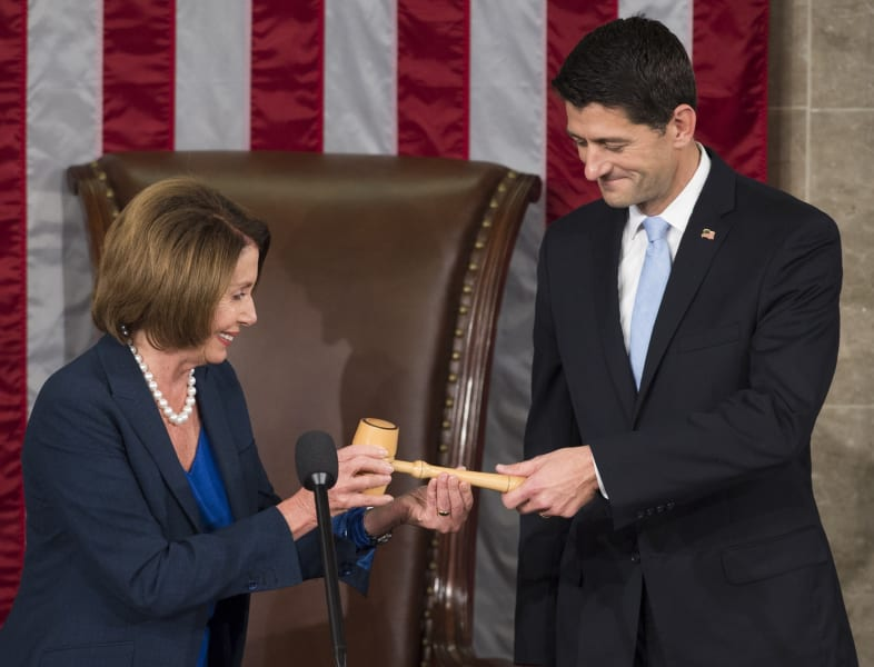 Paul Ryan gavel Pelosi