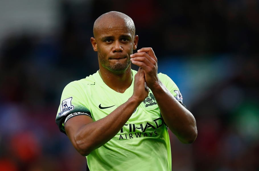 Vincent Kompany Manchester City clapping