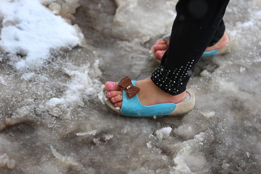 refugee shoe snow