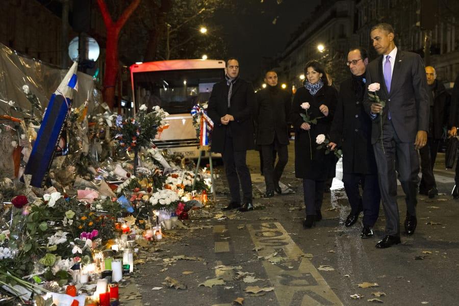 obama paris memorial