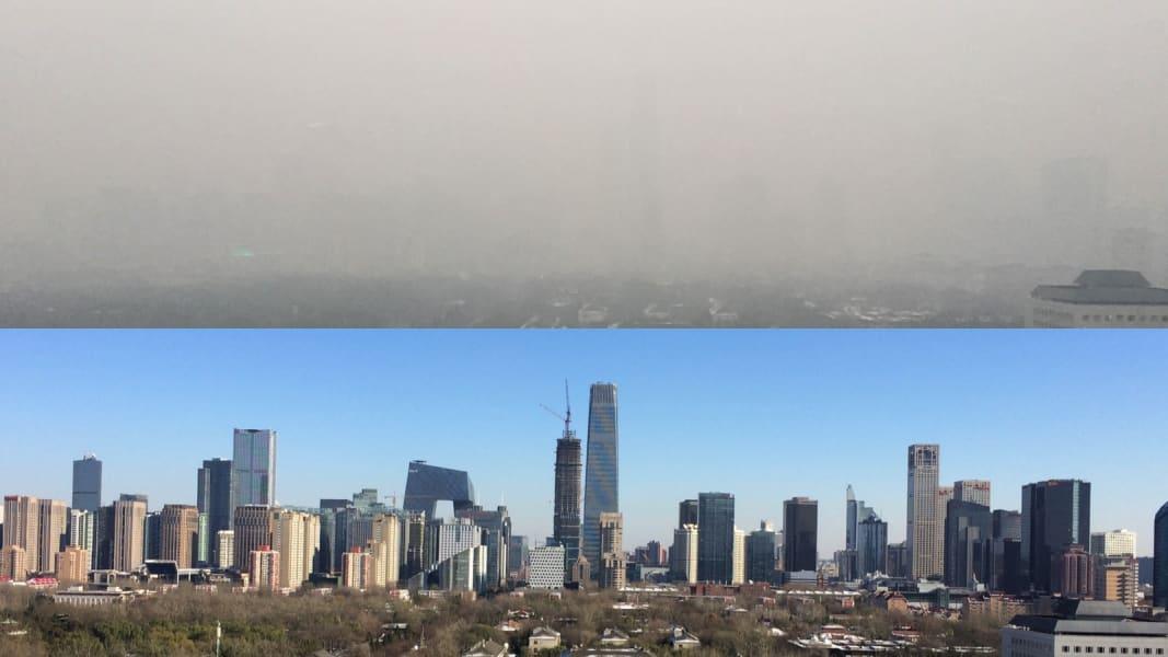 beijing smog split