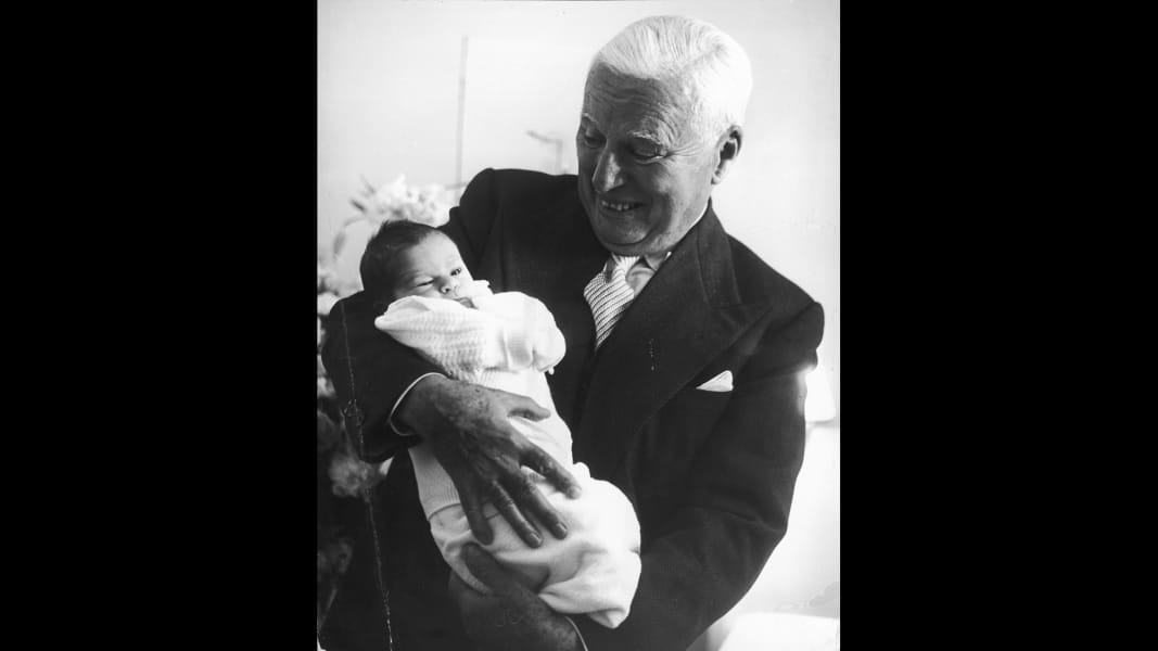 charlie chaplin with baby
