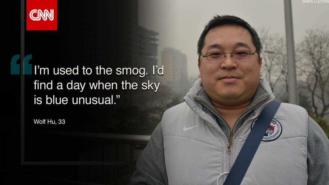 China smog quote pic Hu