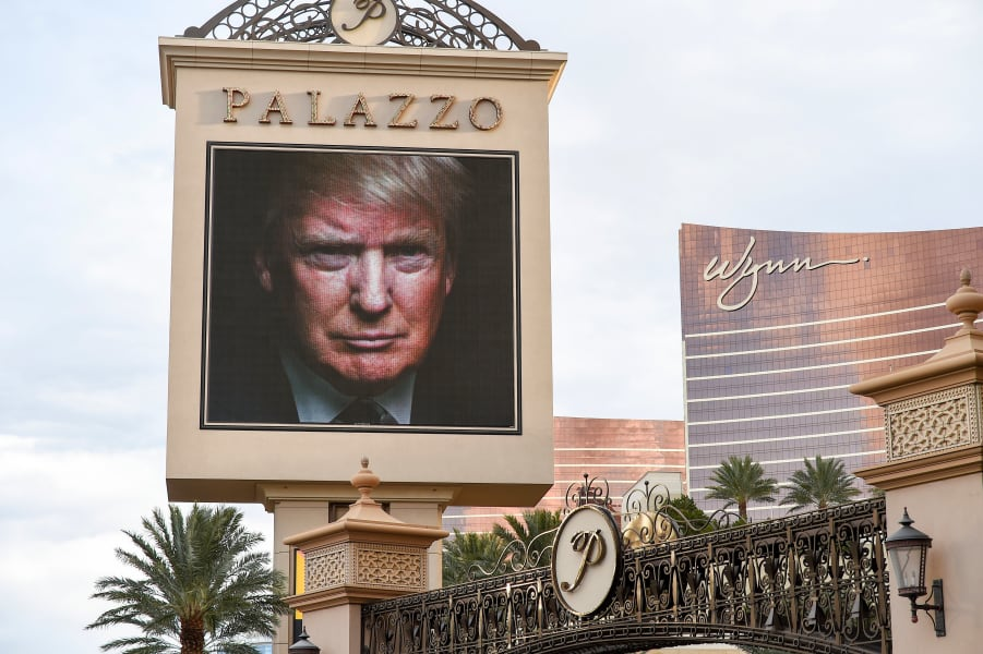 CNN debate Vegas Trump ad