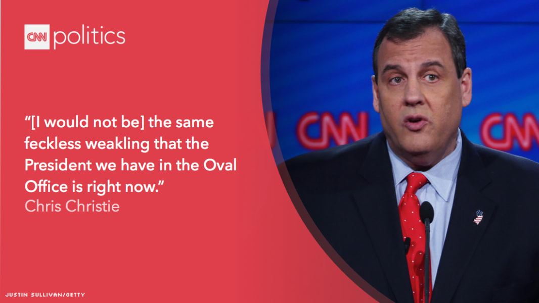 chris christie quote graphic