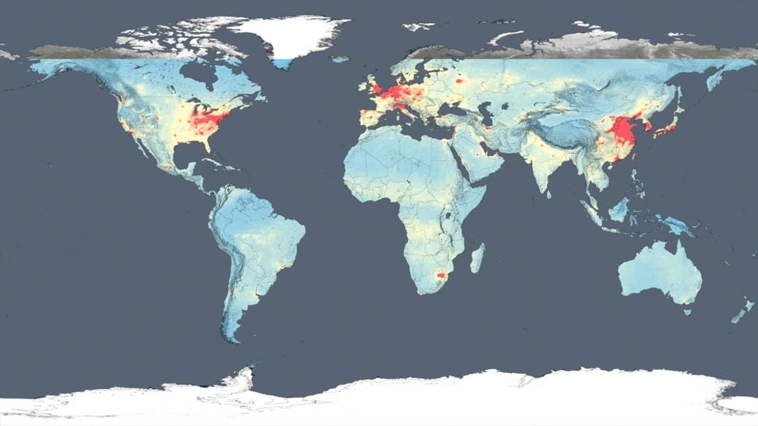 NASA air quality map 1