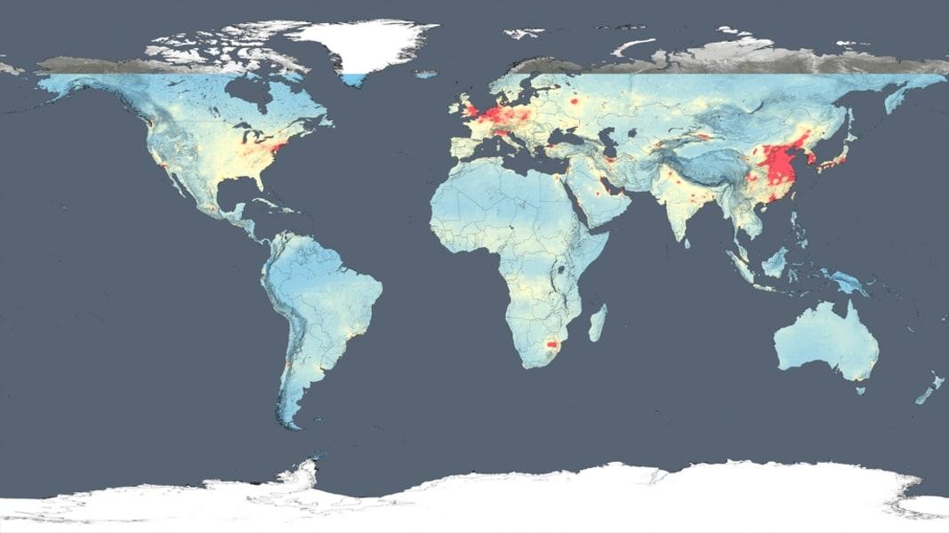 NASA air quality map 2