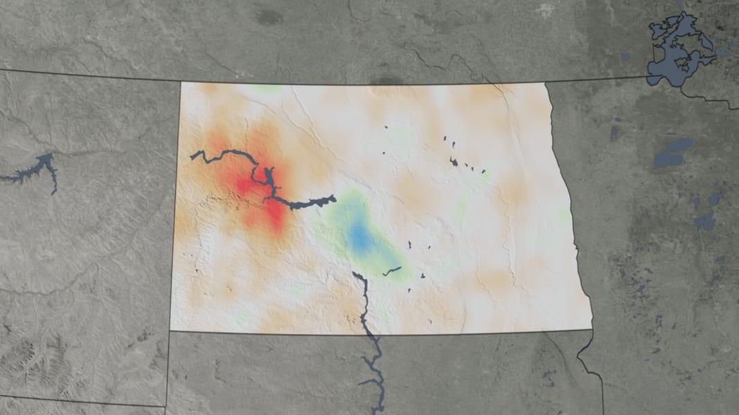 NASA air quality North Dakota