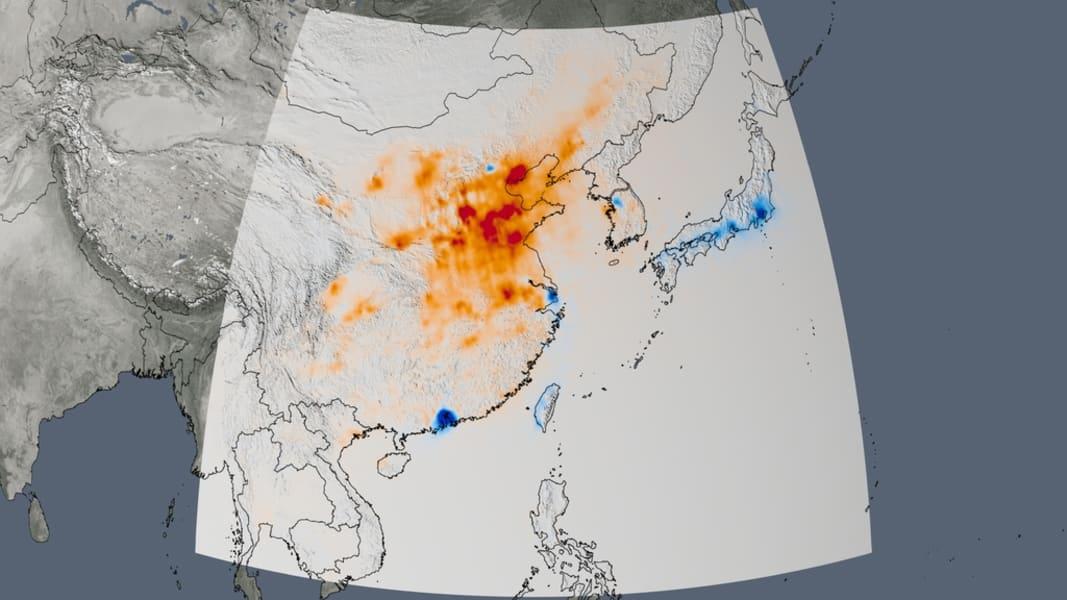 NASA air quality East Asia trend