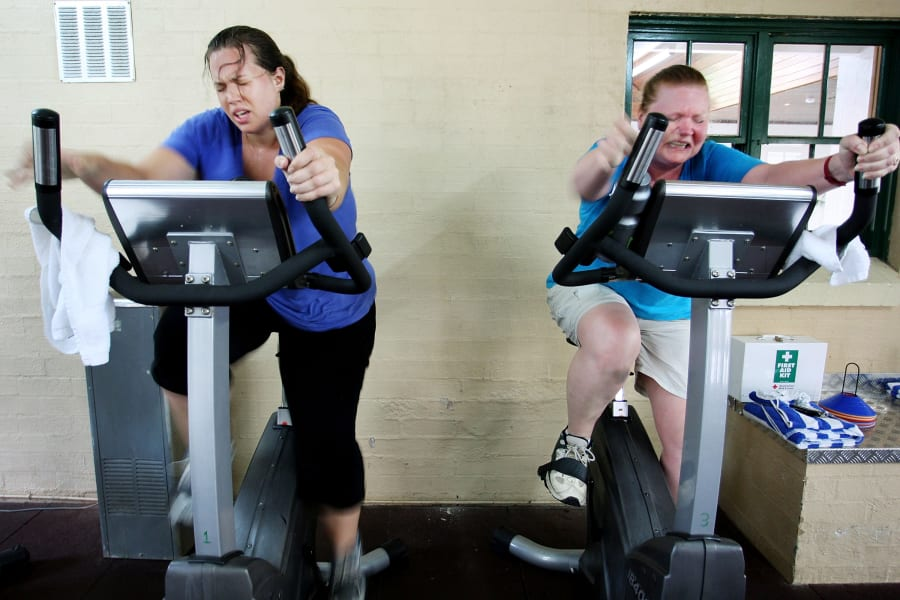 fat people exercise