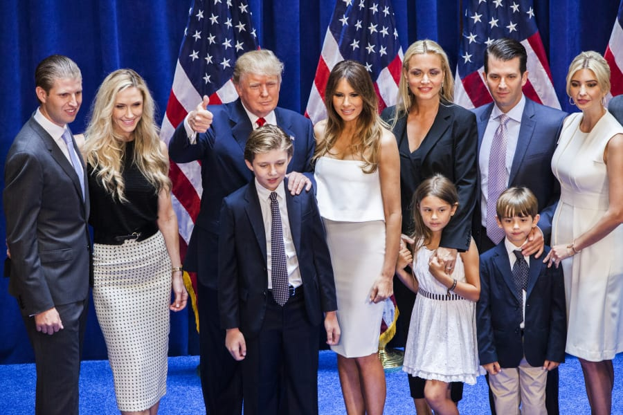 Donald Trump and family presidential annoucement