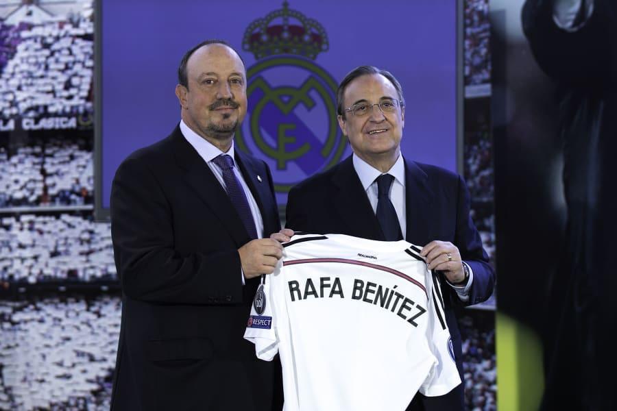 Rafael Benitez sacked Real Madrid unveiling