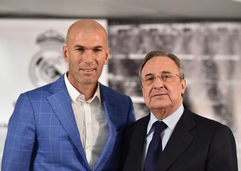 zidane appointed coach perez