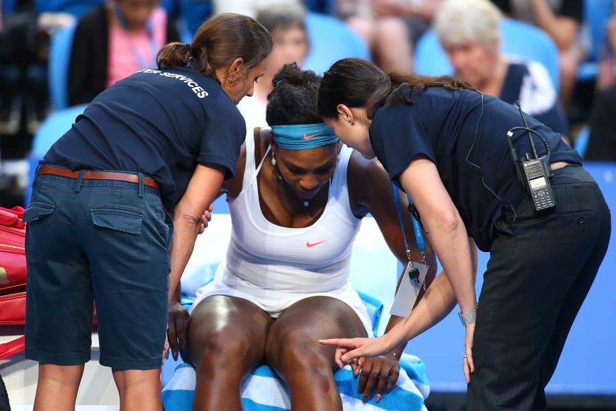 Serena Williams: Knee Injury Hopman Cup
