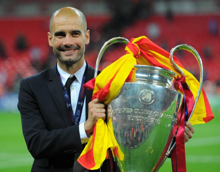 Guardiola Champions League trophy