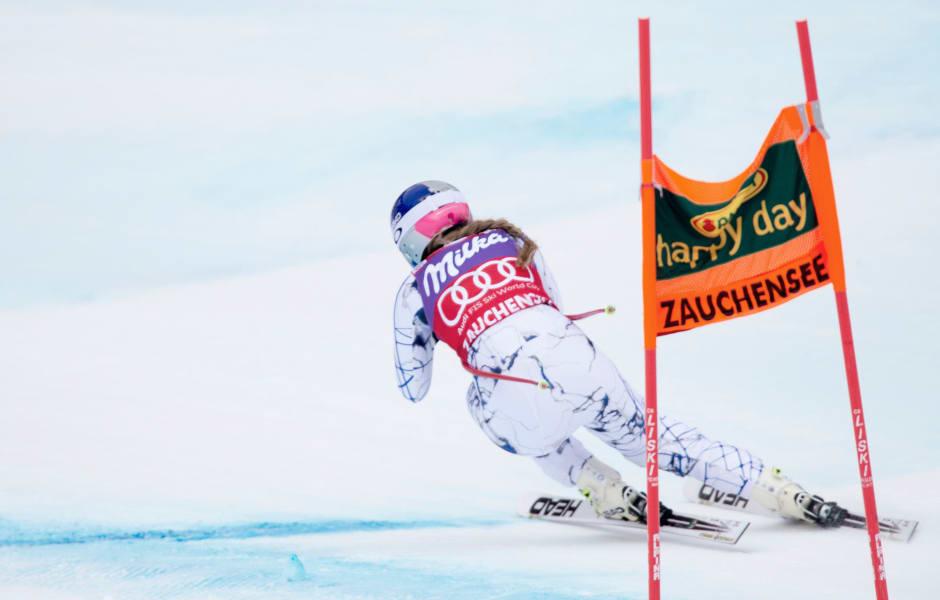 Lindsey Vonn Zauchensee slope turn