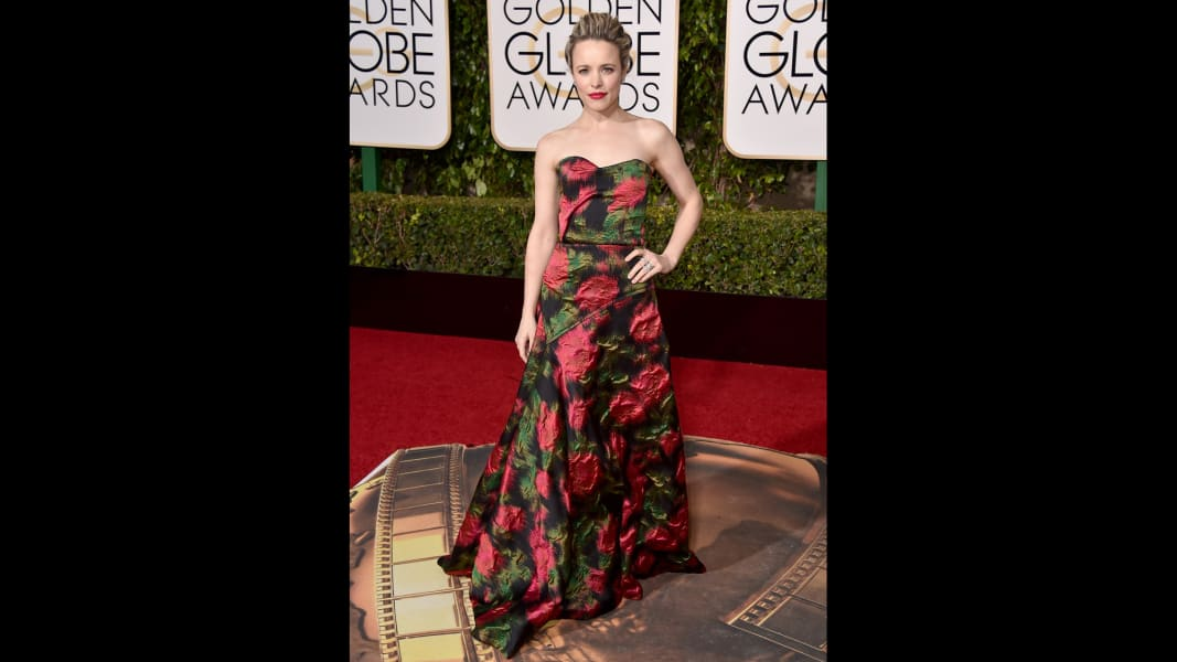 golden globes red carpet 2016 - Rachel McAdams