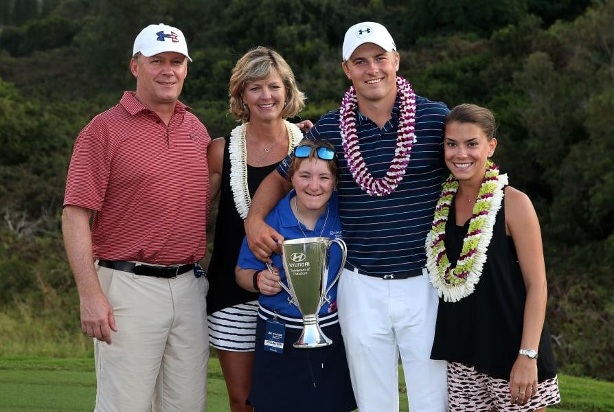 Jordan Spieth Tournament of Champions family