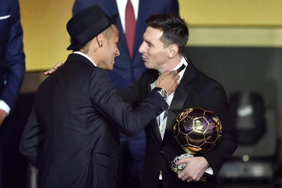 neymar messi ballon d'or