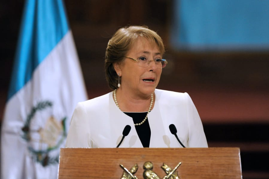 Michelle Bachelet 2016 female leader
