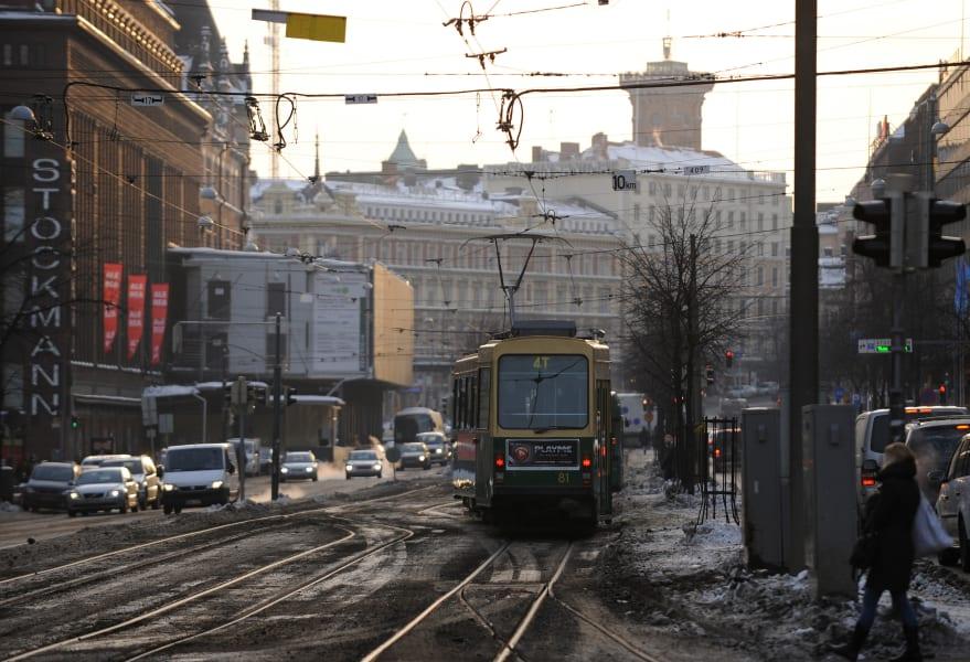 helsiniki center tram