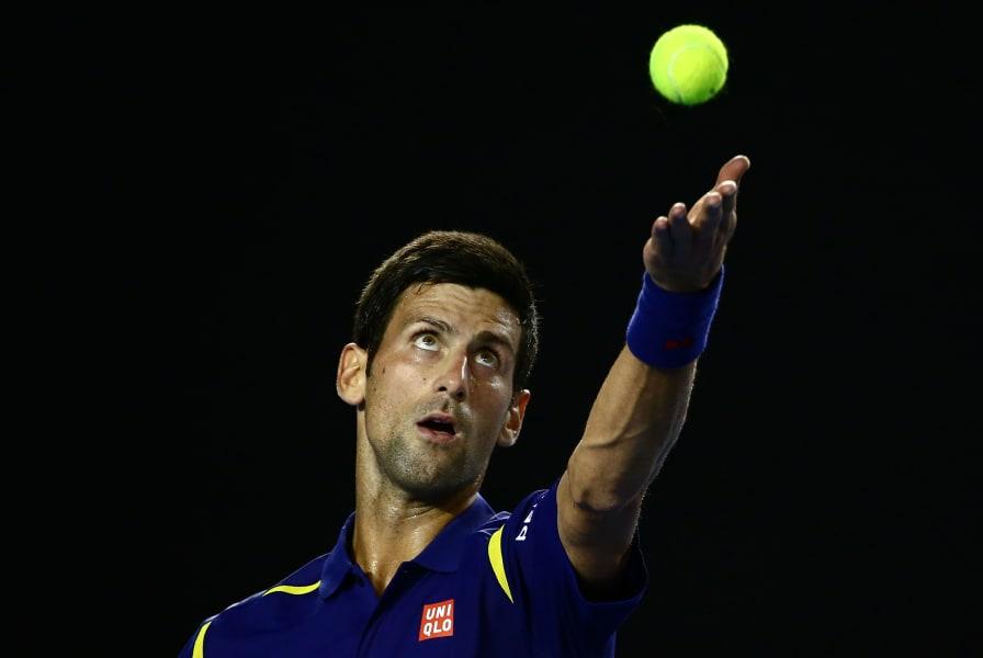 Novak Djokovic serve Australian Open 2016