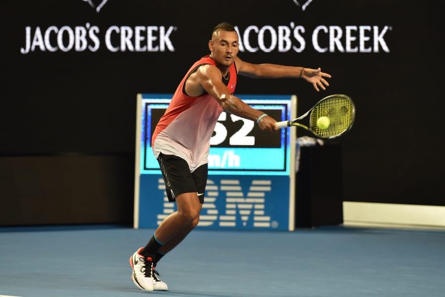 Krygios black shorts Open 2016