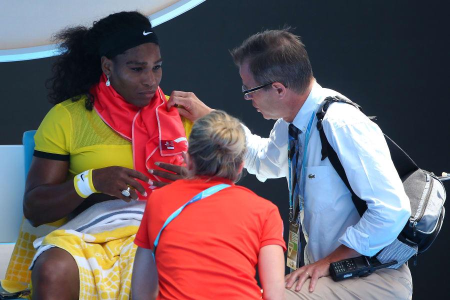 Williams Sharapova time out