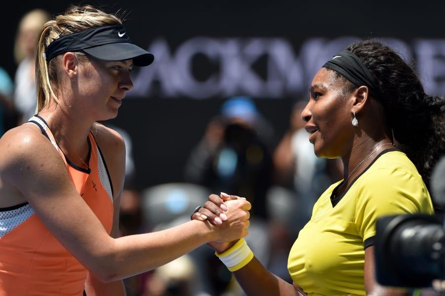 Serena Williams Sharapova handshake
