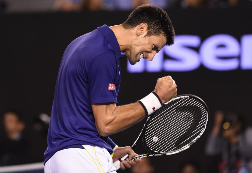 Djokovic fist