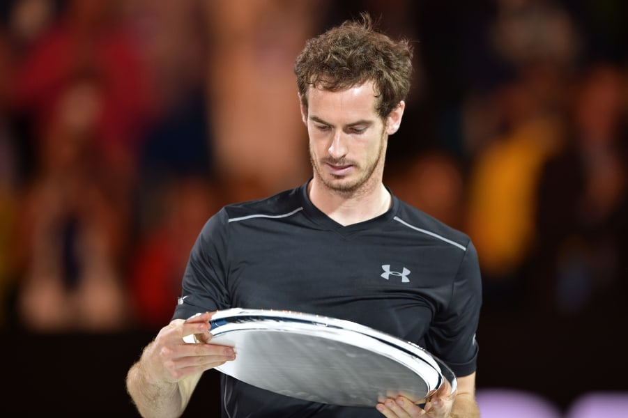 andy murray runner-up trophy
