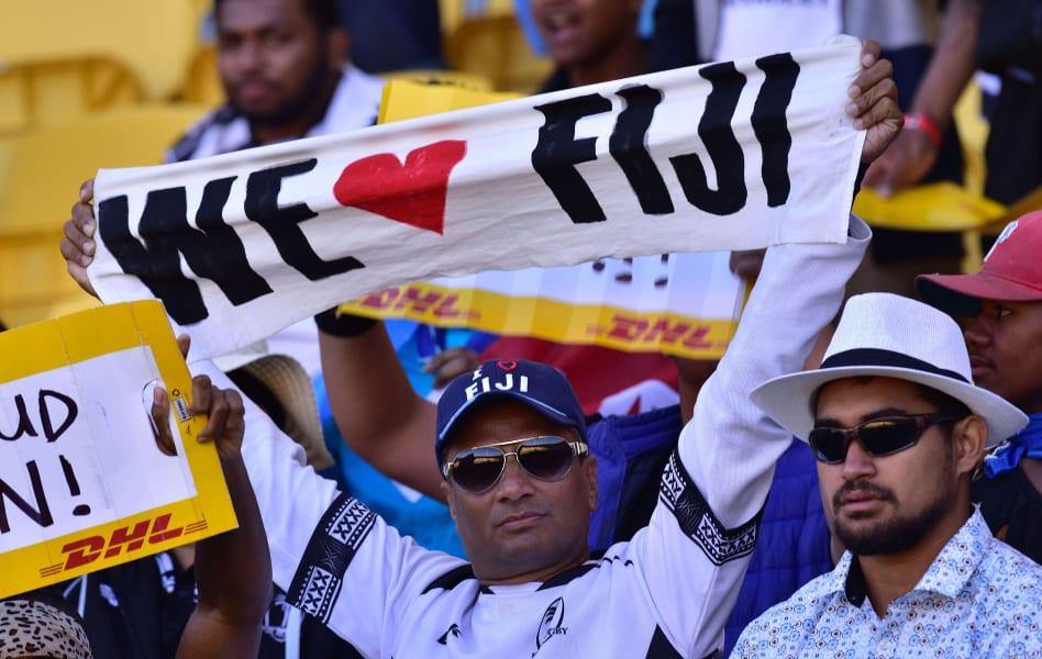 Wellington 7s fans fiji