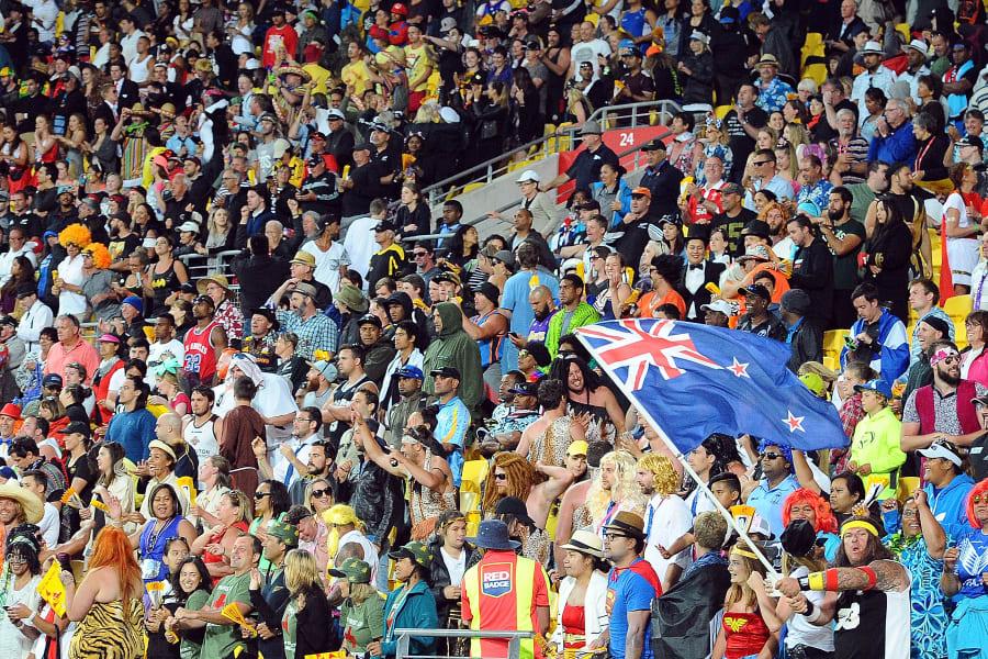 Wellington 7s fans stadium shot