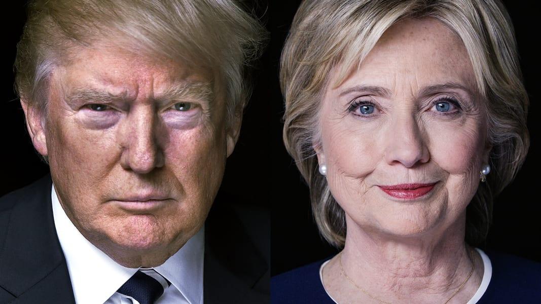 trump clinton split portrait